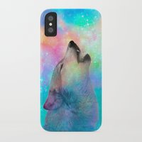 hobbes iPhone & iPod Cases featuring Breathing Dreams Like Air (Wolf Howl Abstract) by soaring anchor designs