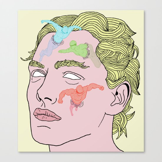 The Complexities of Having a Swimming Pool Face Canvas Print