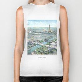 Paris art print Paris Decor office decoration vintage decor eiffel tower of Paris Biker Tank