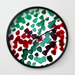 trickle no3...two hearts on grass Wall Clock
