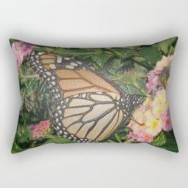 Monarch Butterfly Abstract Rectangular Pillow