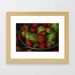 Strawberries and Pears II Framed Art Print