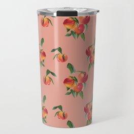 Peaches, Peach Pattern, Peach Illustration Travel Mug
