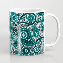 Ivory White Paisley Pattern Design Coffee Mug