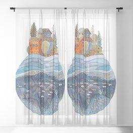 Circular Island Sheer Curtain