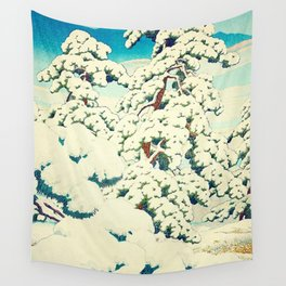 A Morning in the Snow Wall Tapestry