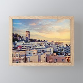San Francisco North Beach Sunset Fine Art Print  • Travel Photography • Wall Art Framed Mini Art Print