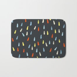 Minimal Colorful Drops Inapertwa Bath Mat