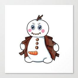 flashing snowman Flasher Present Winter Christmas Canvas Print