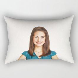 Alison Brie - Celebrity Art Rectangular Pillow