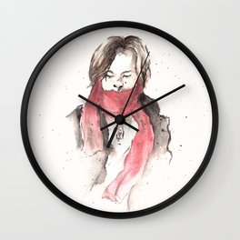 scarves of red tied 'round their necks. Wall Clock