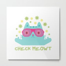 Cat Meowt Metal Print