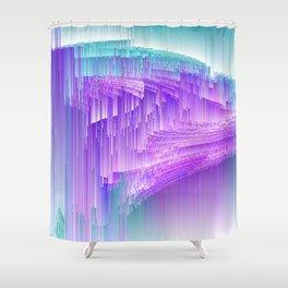 Flame - Pixel sort purple Shower Curtain