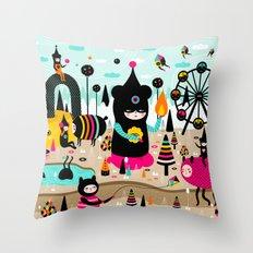 A joyful time! Throw Pillow