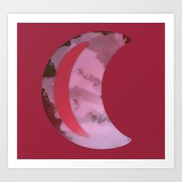 Red Luna Art Print