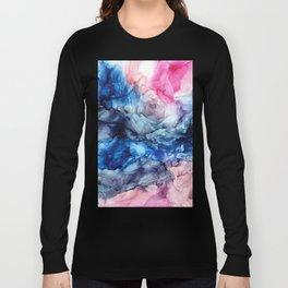 Soul Explosion- vibrant abstract fluid art painting Long Sleeve T-shirt