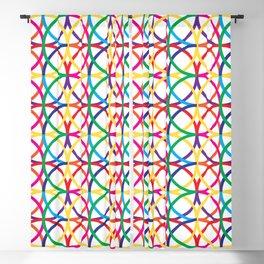 Rainbow Circles Pattern Blackout Curtain