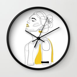 Yellow Lip Wall Clock