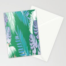 PALMS PRINT Green Stationery Cards