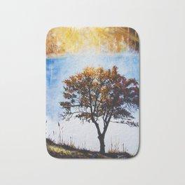 "Original Painting ""Foggy Sunrise"" Bath Mat"