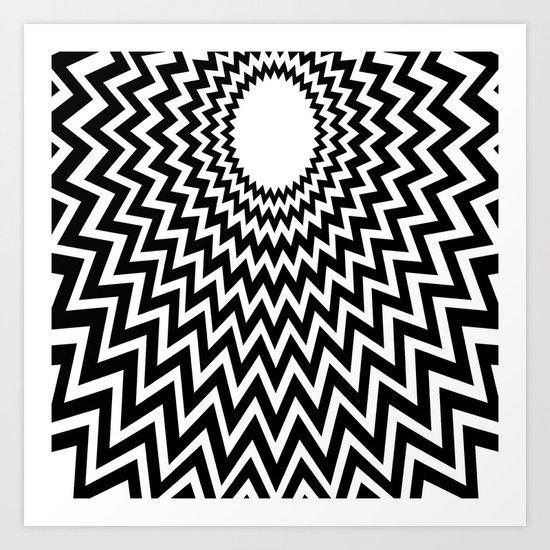 it makes me dizzy Art Print