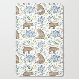 Bears in Blue Flowers Cutting Board