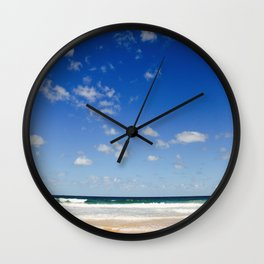 The Silence of waves Wall Clock