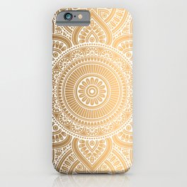 Gold Mandala 3 iPhone Case