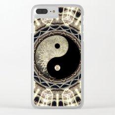 Yin Yang Geometry Mandala V1 Clear iPhone Case