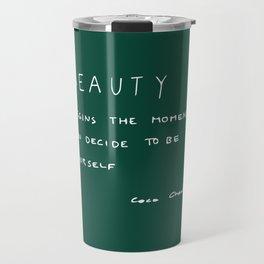 Beauty begins Travel Mug