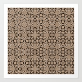 Hazelnut Geometric Art Print