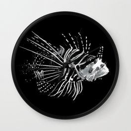 Lion Fish Print Wall Clock