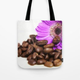 Coffee with Flower Tote Bag
