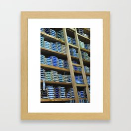 50 shades of blue. Framed Art Print