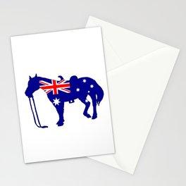 Australian Flag - Horse Stationery Cards