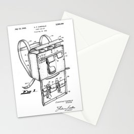 patent art Campiglia First Aid kit 1942 Stationery Cards