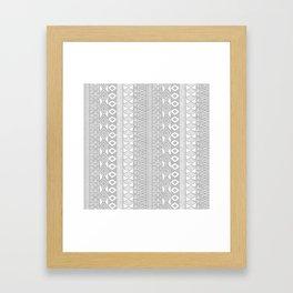 Adobe in Grey Framed Art Print
