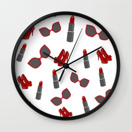 Red Fashion Wall Clock
