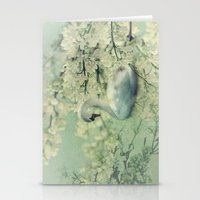 swan Stationery Cards featuring Swan by Ellen van Deelen