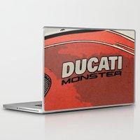 ducati Laptop & iPad Skins featuring Ducati Monster tank 02 by Larsson Stevensem