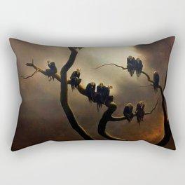 Vivid Retro - Ghosts in a Tree Rectangular Pillow