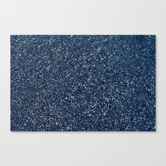 Black Sand II (Blue) Canvas Print