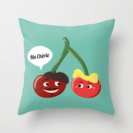 Ma Chérie Throw Pillow