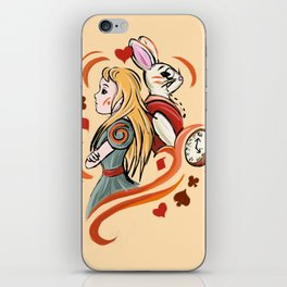 Alice and Wh iPhone Skin