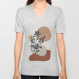 Shapes and Branches 07 Unisex V-Neck
