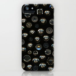 Transparent Buttons Scanograph iPhone Case