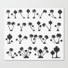 solar palm beach in a dark color Canvas Print