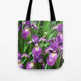 LILAC PURPLE IRIS GARDEN Tote Bag