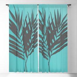 Palm Leaves #1 #Mint #decor #art #society6 Blackout Curtain