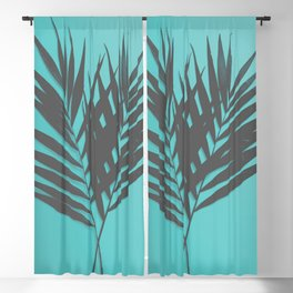 Palm Leaves #1 #Mint #decor #art #society6 Blackout Curtain